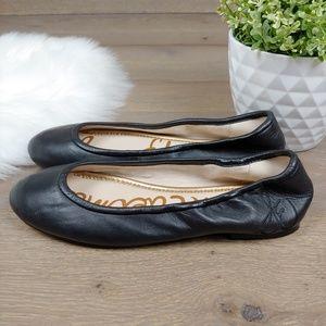Sam Edleman Ballet Flats Black Leather Fritz